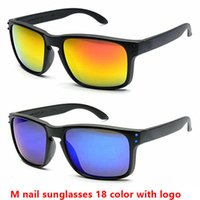 Wholesale Wholesale Framing Nails - Hot sale men sunglasses brand designer sunglasses sport cycling sun glasses 9102 HOLBROOK M nail sunglasses 18 color with logo