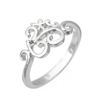 Wholesale Cute Vintage Rings - Cool Retro New High Qulity Vintage Decorative Pattern Silver Plated Fashion Charm Beautiful Cute Crystal Stone Wedding Ring Fine jewelry