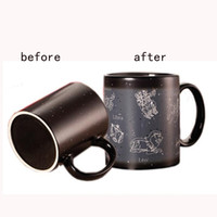 Wholesale Wholesale Ceramic Mug Printing - 301-400ml Twelve constellations color change mug magic Cup black color creative ceramic cup can print LOGO