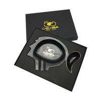 Wholesale fashion ashtray gift online - New COHIBA Creative Design Ashtray Fashion Vintage good quality Personalized Metal Ashtray Home decoration Cigar Cylinder gift