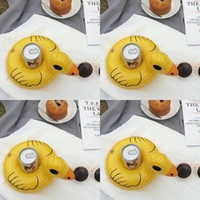 Wholesale inflatable yellow duck - Wholesale Yellow Duck PVC Inflatable Drink Cup Holder Beverage Holders Floating Pool Beach Stand Swimming Pool Child's Play Kids Bath Toy