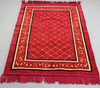 Wholesale Muslim Prayer Rugs - Jacquard Velve Islamic Muslim Prayer Mat Blanket wool Salat Musallah Rug Tapis Carpet Tapete Banheiro Islamic Praying Mat free shipping