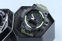 Wholesale Plastic Buckles For Belts - New relogio GWG 1000 men's sports watches with box,G LED chronograph wristwatch, military watch, good gift for men & boy, dropship