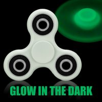 Wholesale Acrylic Glow Dark - Luminous Fidget Spinner Finger Toys Glow In The DarK Hand Spinners Acrylic ABS Plastic Metal Gyro Decompression Anxiety Toys With Package