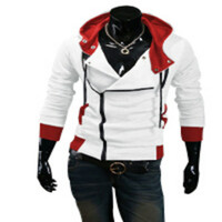 Wholesale assassins creed white jacket - Plus Size New Fashion Stylish Men Assassins Creed 9 Desmond Miles Costume Hoodie Cosplay Coat Jacket