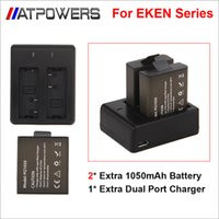 Wholesale Original EKEN Battery Charger Dual Charger For EKEN H9 H9R H3 H3R H8PRO H8R H8 pro SJCAM SJ4000 SJ5000