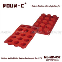 Wholesale Cylinder Mold - Wholesale- New 15-Cavity Cake Chocolate Baking Pans Silicone Baking Pans cylinder Pudding Mould Cupcake Mold Cake Mold Baking Tray