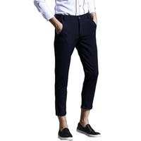 Wholesale Good Dress Pants - Wholesale- Good Quality 2016 New Arrival Mens Slim Fit Trousers Pants Formal Fashion Cotton Classic Mens Dress Pants
