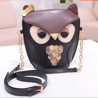 Wholesale Owl Knit Bag - 2015 new fashion handbag leisure Korean stitching owl chain shoulder bag messenger bag wholesale