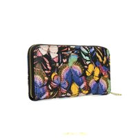Wholesale Notes Printing - Zipper Lady Wallets Holders Animal Print Floral Clutch Bag Credit Card Package Geometric Multi-bit Fashion Women Phone Bag VKP1415