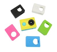 Wholesale Silicon Camera Covers - Wholesale- Silicon Case Cover Skin Protective Soft Rubber Case + Lens Cover Cap for Xiaomi Yi XiaoYi Sport Action Camera Accessories