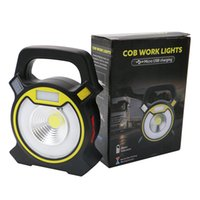Wholesale Rechargeable Battery Usb - Powerful COB LED Portable Work Lamp 4 Modes Work light Camping Lantern Power By 2*18650 Battery With USB Rechargeable