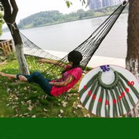Wholesale Easy Load - Wholesale- Load bearing 100KG Easy to carry outdoors Reticular overstriking Nylon rope Hammock Adult children Outdoor sport Swing