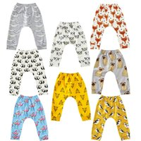 Wholesale Colorful Leggings For Kids - INS Baby Animal Cartoon Leggings Casual Cartoon Animal Pants Colorful Flamingo Fox Panda Tiger Infant Long Trousers PP Pants For Kids Baby