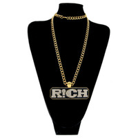 Wholesale Rich Link - 2017 new high quality gold color Chinese hip hop fashion necklace The rap of China RICH pendant men and women
