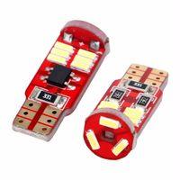 светодиодные фары с шиной оптовых-10X15-SMD T10 W5W LED 5W5 4014 габаритный фонарь лампа Lada Kalina CAN-bus ошибка бесплатно его цвет лампы белый