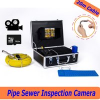 Wholesale Snake Video Free - free shipping WP71 20M Waterproof Pipeline drain Sewer Inspection Camera System Industrial Video underwater Snake Endoscope Borescope ann