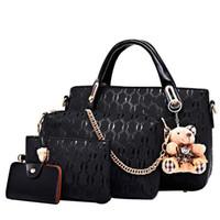 Wholesale Messenger Pieces - Wholesale 2017 New Fashion Women Composite Bag Brand Messenger Bags Handbags PU Leather Female Bag 4 pieces set SY016