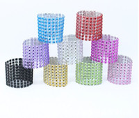 Wholesale Wholesale Green Diamond Confetti - Hot New Napkin Rings Rhinestone Napkin Rings Adornment For Wedding Party 100 PCS a lot HJ080