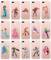Wholesale Superman Iphone Case Blue - Fairy Frozen Girl Spiderman Superman Soft TPU Case For Iphone 7 7Plus 6 6S 4.7 Plus SE 5 5S Galaxy S7 Edge S6 Silicone Colorful Skins Cover