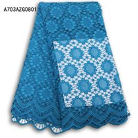 Wholesale Cheap Multi Colored Dresses - wholesale Wholesale cheap african lace fabric sky blue high quality guipure cord lace fabric for party dresses A703AZG08