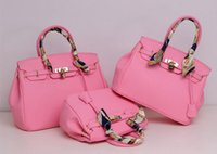 Wholesale Dress Shell Pink - wholesales New summer big brand style Exquisite Platinum lock tote bag high grade fashion colorful handbag lady portable shoulder bags