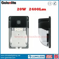 Wholesale China Wholesale Wall Lights - China golden supplier Hot sell 120-277V photocell sensor wall mounting 120Lm W 2400Lm 20W LED wall pack lighting