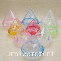 Wholesale Diamond Candy Favor Boxes - New Arrivals--20pcs Lovely plastic transparent diamond shape candy box wedding favor boxes