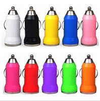 Wholesale Ego Car Chargers - Hot Car Chargers Bullet Mini USB Iphone USB Adapter Cigarette Lighter For Iphone 7 Plus For Samsung S7 S6 Ipad Pro EGO Car Charger