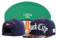 Wholesale Red Base Ball Hat - CAYLER & SON Hats Men Cheap Snapbacks Sports Football Caps Base Ball Hat Adjustable Athletic Outdoor Headwears Cap