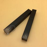 tüp makyajı toptan satış-Toptan-30 ADET Boş degrade siyah dudak parlatıcısı tüp 5 ML Dudak parlatıcısı konteyner makyaj dudak yağ kabı plastik tüp
