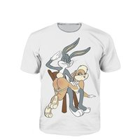 Wholesale Long Spanking - Wholesale- T Shirt Anime Hip Hop Bugs Bunny Lola Bunny Jersey Spanking 3d T Shirt Funny Men Women Baseball Jersey
