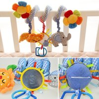 Atacado- Cute Elephant Lion Infant Mobile Toys Baby Crib Revolve Around The Bed Music Educational Stroller Plush Soft Baby Rattle Toys