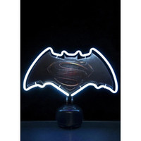 New White Batman Handicrafted Real Glass Tube Neon Table Light Beer Lager Bar Pub Table Sign Neon Light Escultura Lâmpada de mesa