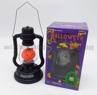 Wholesale Halloween Lights Lantern Ghost - Hot Hand Carry Halloween night light ghost light Pumpkin Witch Holiday decor light flash sound music light LED Lantern hand held MYY