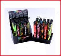 Wholesale Shisha Pen Factory - E Shisha Time Vape Pens Disposable Fruit Flavor Electronic Cigarette 500 Puff e cigarette Cigarettes Pen Colorful Factory Direct 3 2gn
