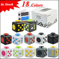 Wholesale First Plastic Toys - In stock 18 Colors Popular Decompression Toy Fidget cube the world's first American decompression anxiety Toys via DHL