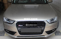 Wholesale ABS Chrome mesh Grille Front Chrome Frame Mesh Sport Grill Grille Fit For Audi A4 B9 RS4 Style