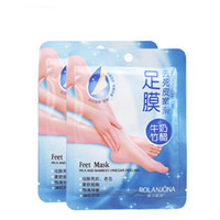 Wholesale dead skin removal - Wholesale 10 pcs lot Milk Bamboo Vinegar Foot Mask Exfoliating Feet Mask Dead Skin Removal Smooth Foot Skin Feet Care 1 pair pc