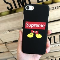 Wholesale Trends Mobile Phone Case - For Iphone 7 Mobile Phone Cases Cartoon Mickey Trend Ultra Thin Scrub Hard Phone Case For Iphone 7 6 6s Plus
