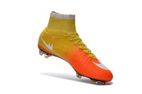 Wholesale Burgundy Ankle Boots - Best Sell Mercurial Superfly FG Mens Football Soccer Shoes Mercurial Soccer Cleats Superfly Ankle High Football Boots Superflys Soccer Boots
