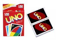 Wholesale Fun Box Games - UNO Card Standard Edition UNO Playing Cards 5.6*8.8CM Family Fun Playing Cards Gift Box English Manual Christmas Humanity Card game Toys