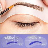 Wholesale eyebrow template shaper - Wholesale- Hot New Useful Women Eyebrow Model Drawing Style Model Grooming Stencil Template Shaping Shaper Beauty 126