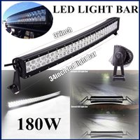 33-дюймовый 180W CURVED LED WORK LIGHT BAR FLOOD SPOT COMBO BEAM 10-30V OFFROAD TRUCK JEEP BOAT TRACILER LAMP 4WD 32 Super Bright