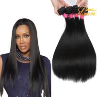 bakire hint saçları fiyatları toptan satış-Fabrika Fiyat Hint Virgin İnsan Saç Uzatma Düz% 100% İnsan Saç Atkı Brezilyalı Perulu Moğol Malezya Düz Doğal Renk