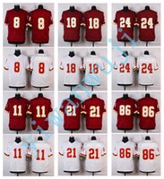 Wholesale Men Elite Style Stitched REDSKlNS COUSINS JACKSON DOCTSON TAYLOR NORMAN REED White Red football jerseys