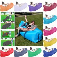Wholesale Toy Hammocks Wholesale - 11 Colors Inflatable Sofa Air Sleeping Bags Lazy Beds Hammock Beach Lounger Travel Hangout Couch Camping Hiking Outdoor Stuff CCA6789 20pcs