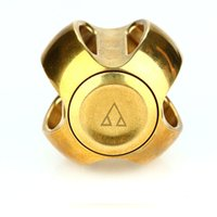 Wholesale Pure Toys - New Spherical Hand Spinner Pure Brass Globe Fidget Spinner Finger Gyro Spinning Portable Safe Desk Toy For Autism ADHD Kids Gift