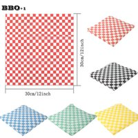 Wholesale Sandwich Wraps - 2pack 48pcs 30x30cm Printed Wax Paper Food Wrapping Paper Grease Resistant liner For Bread Sandwich Burger French Fries Candy