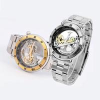 ik coloração venda por atacado-IK Coloração 98399G-S Automático Mecânico Relógios Homens Duplo Oco Homens Relógio À Prova D 'Água